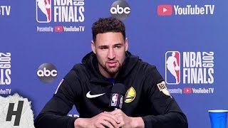 Klay Thompson Full Interview - Game 5 Preview | 2019 NBA Finals Media Availability