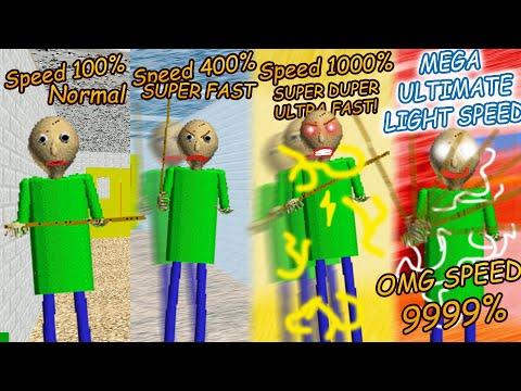 How Baldi Like Light Of Speed..... | Baldi's Basics Gets Faster How Long [Baldi's Basics Mod]