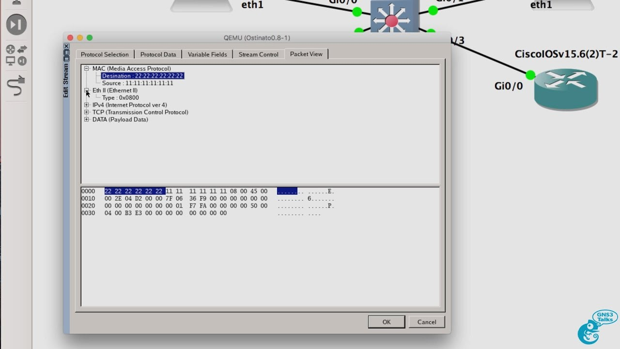 GNS3 Talks: Ostinato Packet Generator and GNS3 - download