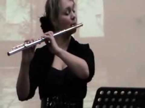 Beata Iwona Glinka (flute) at the Municipal Conservatory of Drama