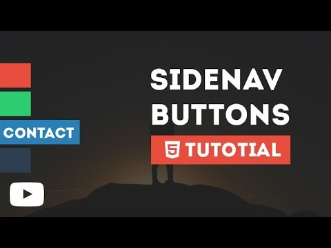 Cool Side Navigation Buttons With Awesome Hover Only By Using HTML & CSS