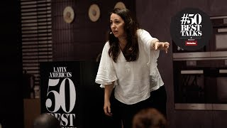 Narda Lepes on eating less meat and visiting the slaughterhouse at #50BestTalks