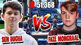 Sen Bugha Challenged Faze Mongraal to 3v3 wagers in front of 51k viewers then this happened...