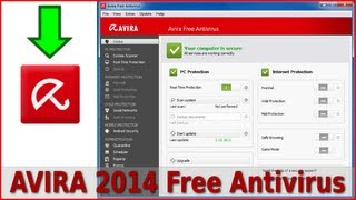 AVIRA 2014 Antivirus Free install and settings