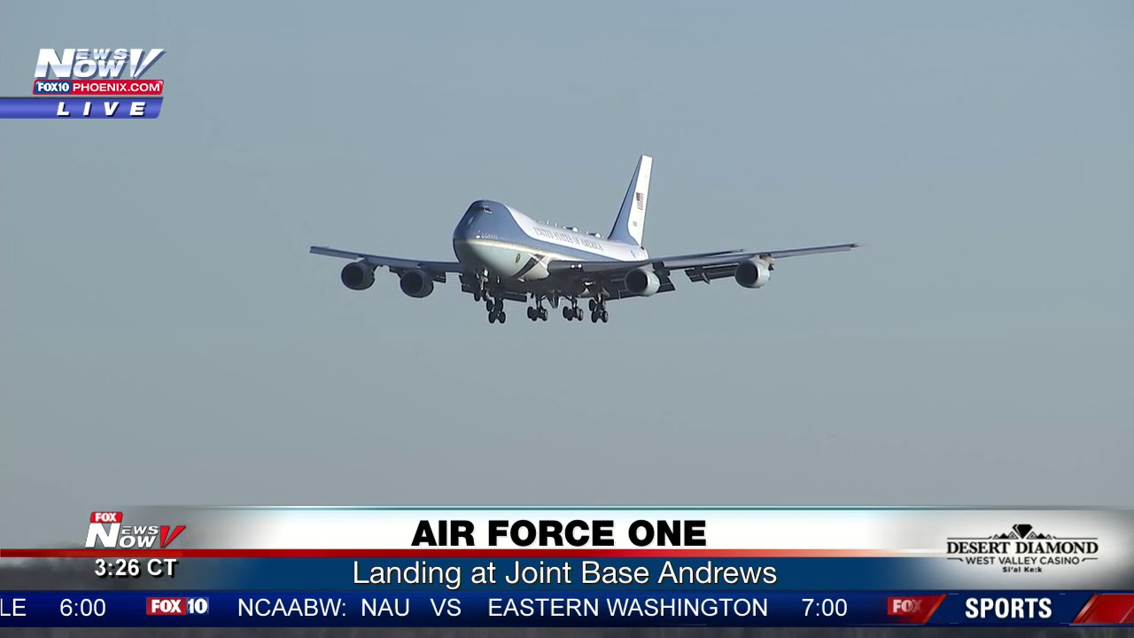 Download SMOOTH: Great Visual Of Air Force One Landing (FNN)