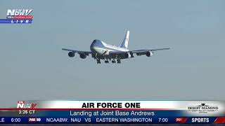 SMOOTH: Great Visual Of Air Force One Landing