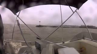 Hurricane Sandy, huge waves at Lake Erie