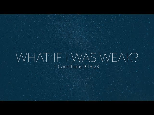 May 2018: Rob Grainger - What If I Was Weak?