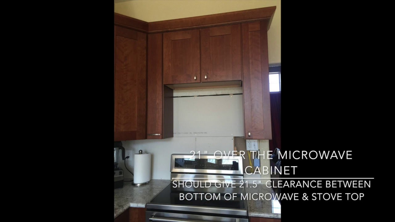 Height between stove and microwave - Update Ideal Clearance Between Otr Microwave Stovetop Lowe S Kitchen Remodel