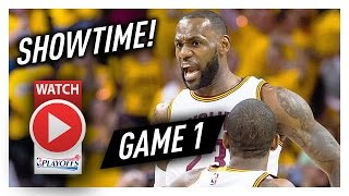 Lebron james game 1 ecsf highlights vs raptors 2017 playoffs - 35 pts, 10 reb, showtime!