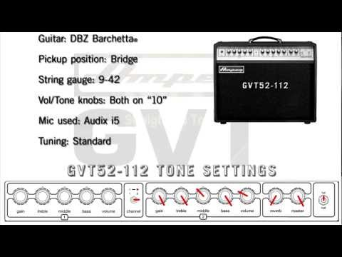 Ampeg GVT52-112 and GVT52-212  - Tone Samples and Settings