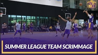 Lakers Practice: Summer League Team Scrimmage Before the Summer Classic