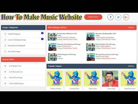 How To Make Music Download Website Skyitech Script  New Design Script Download  Online Tuition
