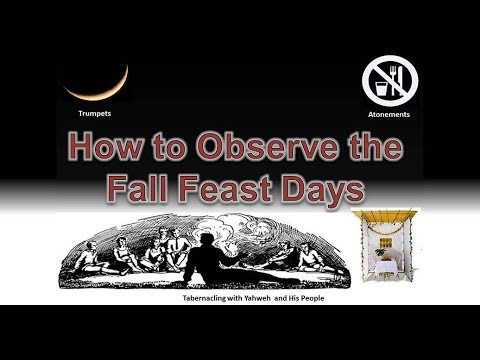 """How to Observe the Fall Feast Days"" - 9/9/17 broadcast"