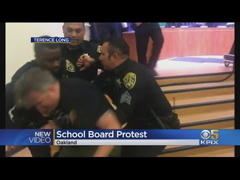 Six Protesters Arrested After Climbing Barrier At Oakland School Board Meeting