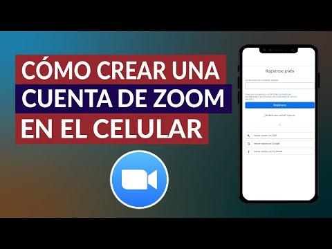 Cómo Crear Una Cuenta Gratis de Zoom en el Celular - Paso a Paso