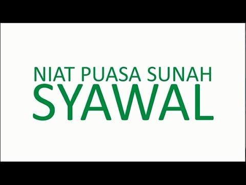 Niat Puasa Sunah Syawal Youtube