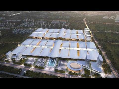 Construction of central China's largest convention and exhibition center begins in Wuhan