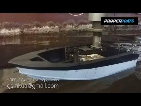 Mukola TV: HDPE - boat.  GS4700 ProperBoats