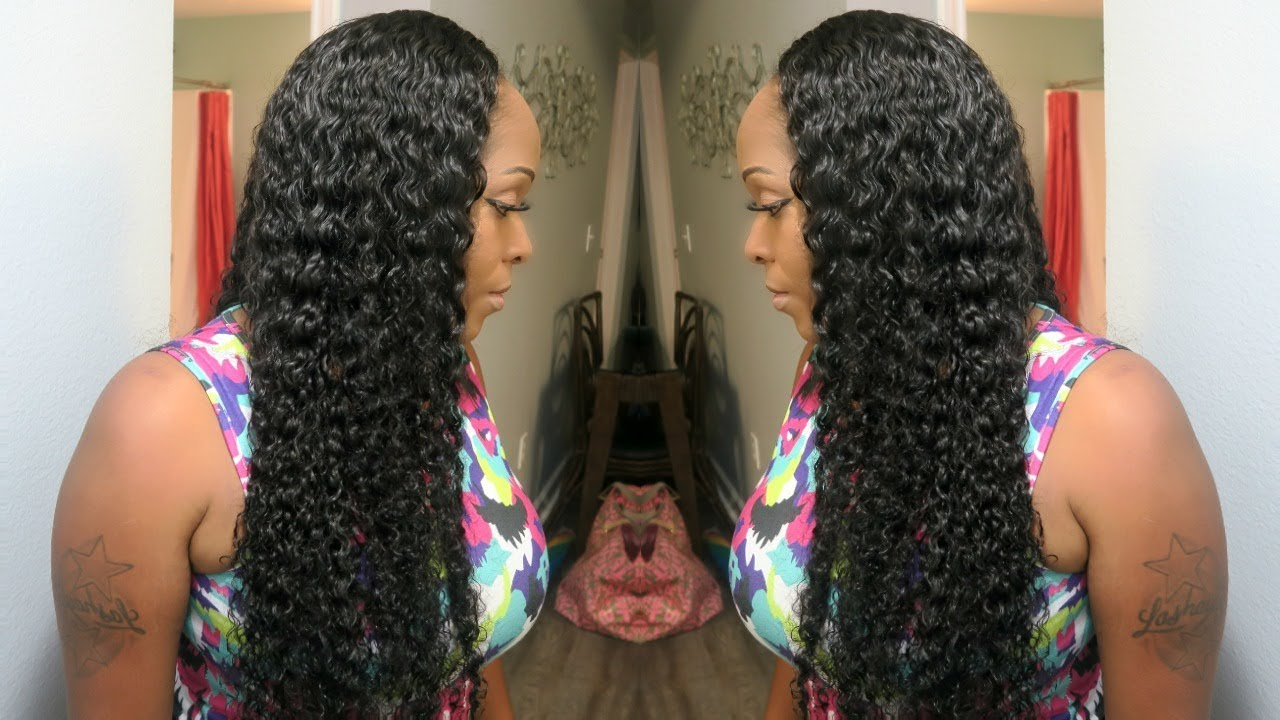 Quick weave install tutorial blending natural hair with curly quick weave install tutorial blending natural hair with curly weave deep side part recool hair pmusecretfo Gallery