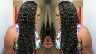 Quick Weave Install Tutorial: Blending Natural Hair With Curly Weave | Deep Side Part | ReCool Hair