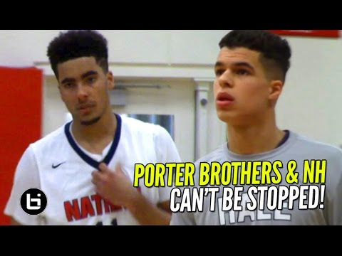 Michael Porter Jr & Jontay Porter CAN'T BE STOPPED! NH's BIG 3 First Two Games Highlights!