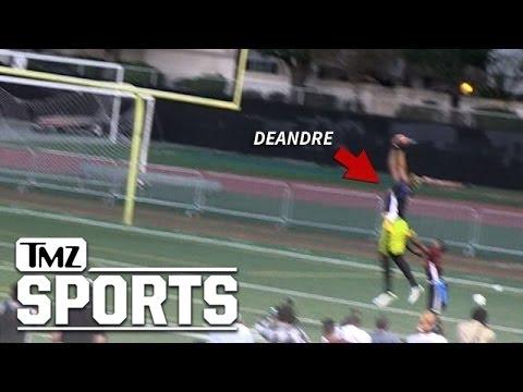 DeAndre Jordan -- INSANE TD GRAB ... At Celeb Football Game | TMZ Sports