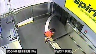 Video | Havalimanında bagaj taşıma bandına giren çocuk yaralı kurtarıldı