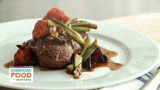 Grilled Flatiron Steak With Scallions - Everyday Food With Sarah Carey