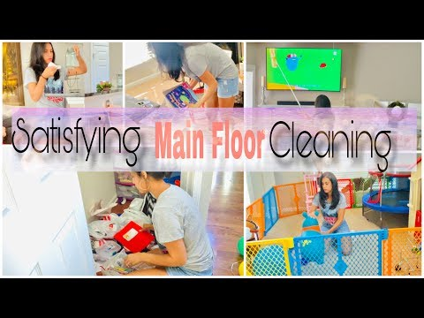 Satisfying Clean With Me | Main Floor Cleaning