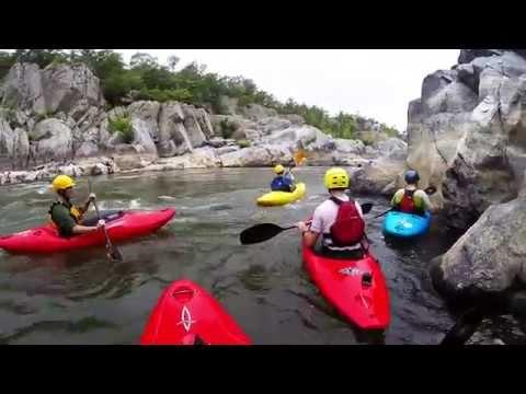 Kayaking the Potomac River at Mather Gorge
