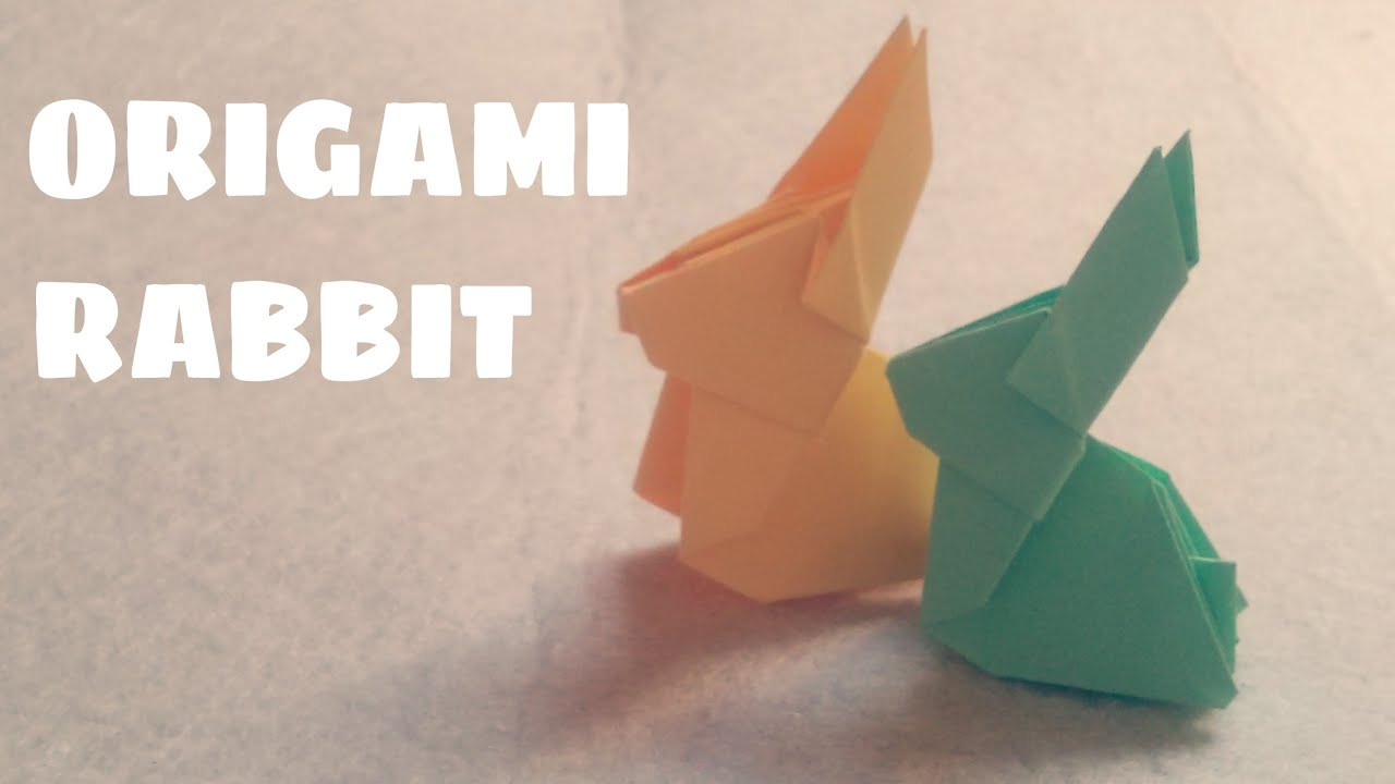 origami for kids origami rabbit origami animals youtube