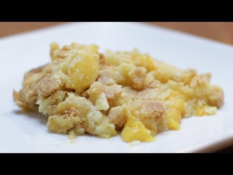How To Make Peach Cobbler | Easy Cake Mix Cobbler Recipe 3 Ingredients