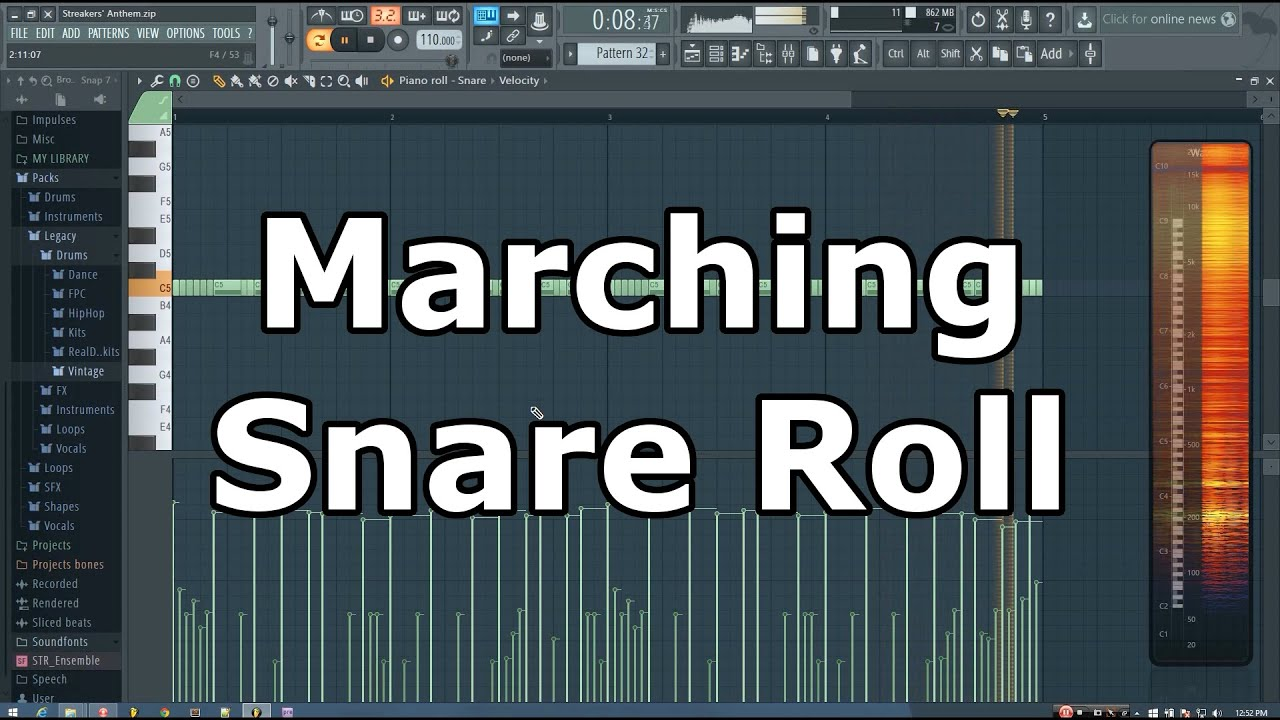 FL Studio Marching Snare Roll Tutorial (Trap) - YouTube