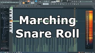 FL Studio Marching Snare Roll Tutorial (Trap)