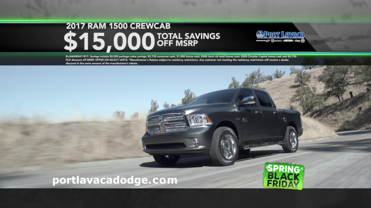 Port Lavaca Dodge >> Port Lavaca Dodge Spring Black Friday April 2017 Youtube