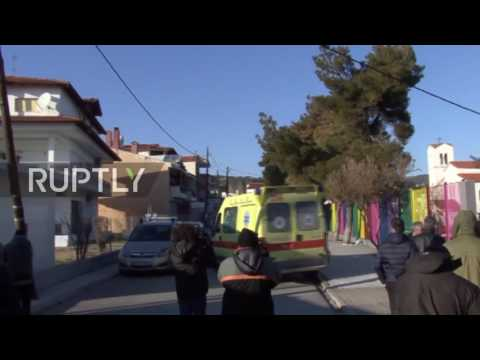 Greece: Far-right activist bricked in the head at rally outside school hosting child refugees