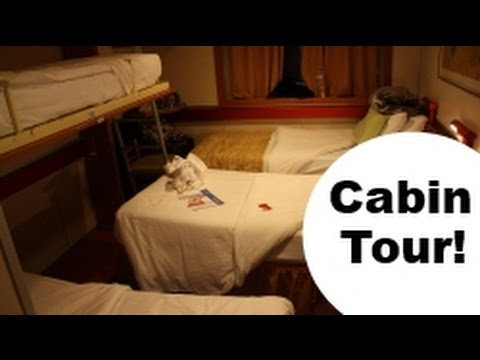 Bunk & Trundle Twin Cabin for 4; Ocean View Carnival Cruise Ship CABIN TOUR!