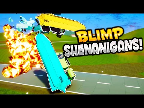 TINY BLIMPS in the CITY! - Brick Rigs Gameplay -Blimp Flying Shenanigans & Brick Rigs User Creations