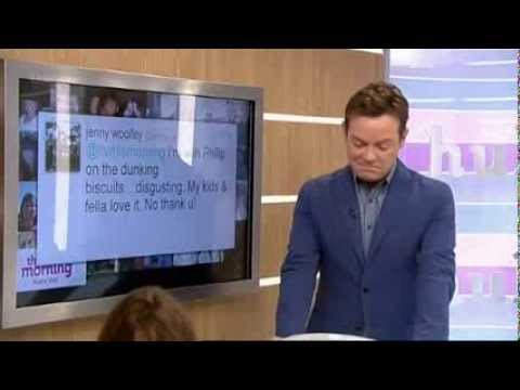 Stephen Mulhern wears lycra trousers in The Hub - This Morning 10th September 2013