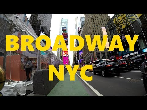 [4K] Broadway from the Bronx to Staten Island Ferry Terminal, Lower Manhattan by Bicycle