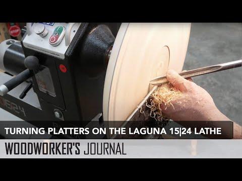 Turning a Wood Platter on the Laguna 15-24 Lathe