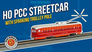 HO Sound Value PCC Street Car with Sparking Trolley Pole