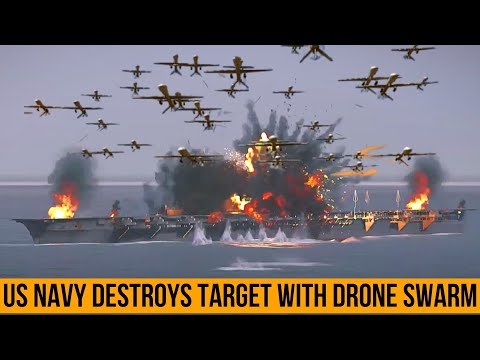 US SENT A MESSAGE TO CHINA! U.S. Navy Destroys Target With Drone Swarm.