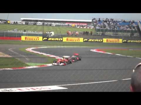 Lewis versus massa last lap British Gp 2011