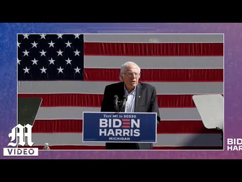 Sen. Bernie Sanders holds rally in Ann Arbor for Joe Biden