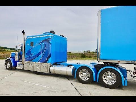 Дальнобой. США. Длинная фура. Peterbilt 350 Inch Wheelbase . Kenworth W9 315 Inch Wheelbase