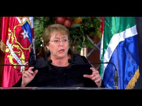 Chilean President Michell Bachelet speaks at 12th Nelson Mandela Annual Lecture Dialogue Series