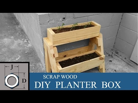 DIY Planter Box from Scrap Wood