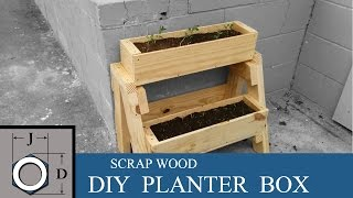 DIY Planter Box from Scrap Wood
